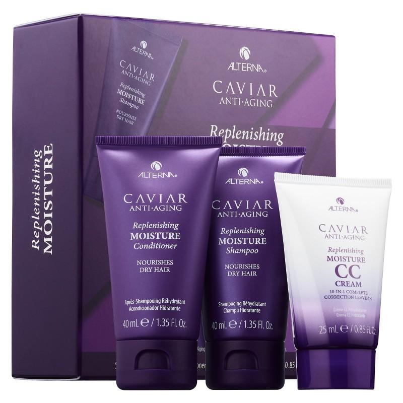 Nemlendirici Seyahat Boy Saç Bakım Seti - Alterna Caviar Anti Aging - Replenishing Moisture - Trial Kit